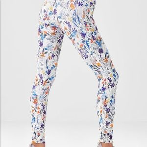 Fabletics high waisted power hold floral leggings